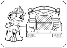 Paw Patrol Coloring Pages To Print. Kids love Paw Patrol, the characters in these movie very popular among children. That's why they also will loove these paw p Puppy Coloring Pages, Paw Patrol Coloring Pages, Easter Coloring Pages, Truck Coloring Pages, Cartoon Coloring Pages, Coloring Pages To Print, Printable Coloring Pages, Coloring Pages For Kids, Coloring Books