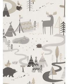 KIDS Wallpaper Pattern No 292404 - animal wallpaper Beige Wallpaper, Book Wallpaper, Forest Wallpaper, Nursery Wallpaper, Kids Wallpaper, Animal Wallpaper, Scandi Wallpaper, Ornament Tapete, Teen