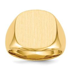 14k 16.0x17.0mm Closed Back Men's Signet Ring / STYLE: RS303 #MensRing #MensSignetRing #SignetRing Men's Jewelry Rings, Jewelery, Yellow Rings, Types Of Rings, Size 10 Rings, Signet Ring, Or Rose, Rose Gold, Gold Material