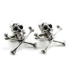 Gothic Wedding Cuff Links  Skull Cuff Links  by ghostlovejewelry, $35.00