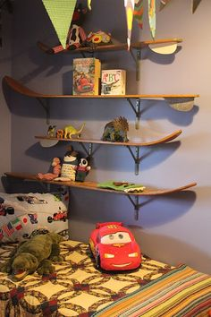 Water Ski Shelf | Water~Ski Shelves For Our Picket Fence Boy.
