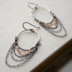 Miranda Earrings- sterling silver, goldfill. #jewelry #earrings