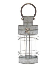 Another great find on #zulily! Gray Mesh Glass-Tube Lantern #zulilyfinds
