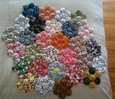 Yo-yo quilt - I think I'm going to try this. I remember making these with my grandfather's wife.