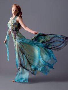 I'm a sucker for long flowing dresses  for-redheads:    designer Blanka Matragi