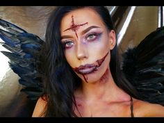 Dark / Evil Fairy Halloween Makeup Tutorial | KatesBeautyStation - YouTube Fairy Halloween Makeup, Halloween Make Up, Halloween Ideas, Halloween Party, Dark Angel Makeup, Evil Fairy, Dark Evil, Evil Angel, Halloween Tutorial