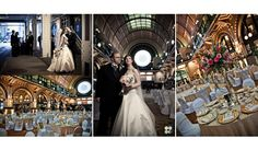 A STUNNING railroad themed wedding reception held in Indy