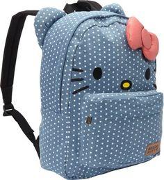 32797371250c Loungefly Hello Kitty Denim With Polka Dots Face Backpack Denim - via  eBags.com!