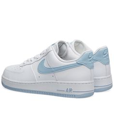 Buy the Nike Air Force 1 W in White & Light Armory Blue from leading mens fashion retailer END. - only Fast shipping on all latest Nike products Shoes 2018, Women's Shoes, Hype Shoes, Buy Shoes, Me Too Shoes, Shoes Men, Shoes Style, Flat Shoes, Oxford Shoes