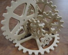 Wooden gears that we could use as a display for Fun Factory VBS!