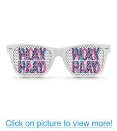 WORK HARD PLAY HARD white Party Wayfarer Sunglasses
