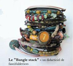 """Tutoriel """"Bangle stack"""" - créez vos bracelets bohème/gypsy : Autres bijoux par ash"""