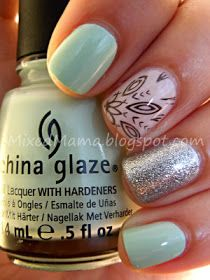 MixedMama: Husband's Choice! Love the mint pink and silver