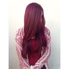 Dimensional tone on tone red violet hair #hairbymichellesunshine Carlton Hair Victoria Gardens