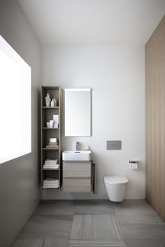 26 Bathroom Storage Cabinets that will Help You Keep Everything Organized - The Trending House Bathroom Furniture, Bathroom Interior, Interior Design Living Room, Modern Bathroom, Family Bathroom, Laufen Bathroom, Bathroom Showrooms, Yellow Bathrooms, Large Bathrooms