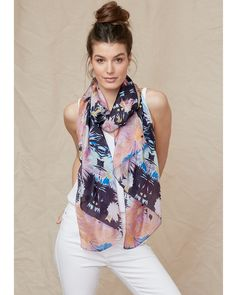 Summer collection from Things are Electric. Beautiful light weight silk. This one Aster