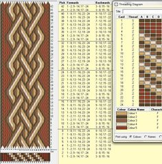 Best Tablet weaving ideas on by cornelia Inkle Weaving Patterns, Loom Weaving, Loom Patterns, Beading Patterns, Quilt Patterns, Weaving Designs, Lucet, Christmas Paintings On Canvas, Spool Quilt
