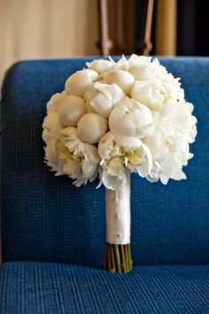An elegant bouquet for an all white wedding in California. {B&G Photography}