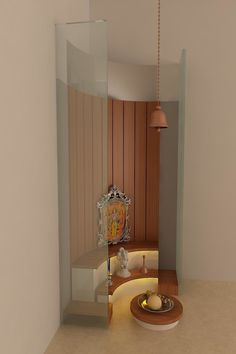 Pooja room: modern by drashtikon designer consultant (kamal maniya),modern Temple Room, Home Temple, Office Furniture Design, Home Decor Furniture, Bedroom Furniture, Indian Furniture, Furniture Sets, Bedroom Decor, Wall Decor