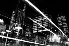 London City Light Trails
