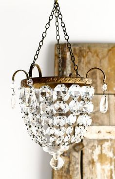 French Chandelier Light Vintage Lighting by CrolAndCo on Etsy