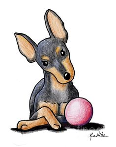 Min Pin With Ball by Kim Niles