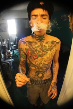 Pin Tumblr Weed Tattoos Famous Kid Ink Smoke Tattoo Designs On Picture ...