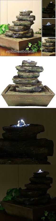 Indoor fountains 20569 indoor water fountain with led lights indoor fountains 20569 indoor water fountain with led lights lighted jug tiered tabletop fountain with buy it now only 3897 on ebay workwithnaturefo