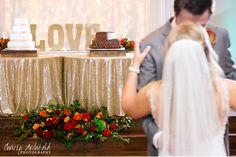 Willow Creek Wedding & Event Venue - Bride and Groom dancing in Reception Hall. Wedding Cakes.