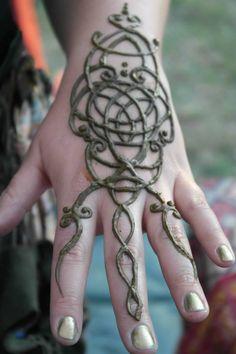 Celtic knot henna by FairyTattoo