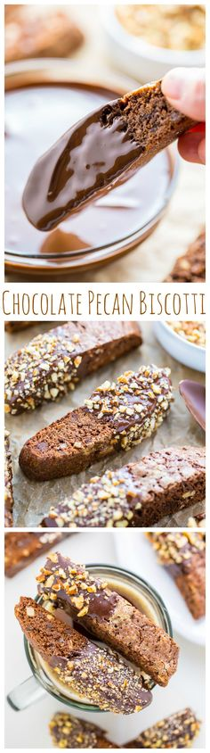 My homemade Chocolate Pecan Biscotti is crunchy, flavorful and perfect with a cup of coffee!