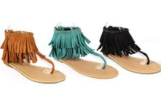 LOVE!    Fringed Flat Sandal - 3 Colors Available on #groopdealz