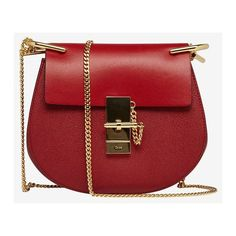 Givenchy Red Leather Small Antigona Envelope Clutch ❤ liked on Polyvore