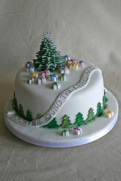 Christmas Cake, Merry Christmas, Bolos para o Natal, Feliz Natal, Bolo Natalino Christmas Cake Designs, Christmas Cake Decorations, Christmas Cupcakes, Christmas Sweets, Holiday Cakes, Christmas Cooking, Christmas Goodies, Christmas Christmas, Xmas Cakes