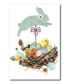 The Holiday Aisle 'Easter Basket II' Graphic Art Print on Wrapped Canvas. Easter Baskets, Flourish, Wall Prints, Wrapped Canvas, Graphic Art, Gallery Wall, Invitations, Holiday, Wall Hangings