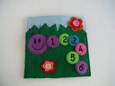 Caterpillar Counting Custom Quiet Book Page by BusyBookBuilders