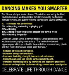 No wonder dancers are so smart! #salsa #salsadancing