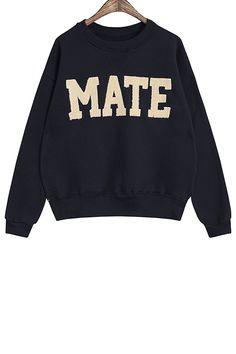 sweatshirt + skinny boyfriend jeans + loafers Sweatshirts Online 58964b87f6b6d