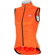 Castelli Leggera Vest (For Women) in Orange Fluo - Closeouts