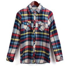 Red Long Sleeve Lined With Villus Plaid Shirt