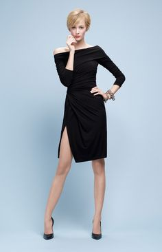 @roressclothes closet ideas #women fashion outfit #clothing style apparel black pencil dress