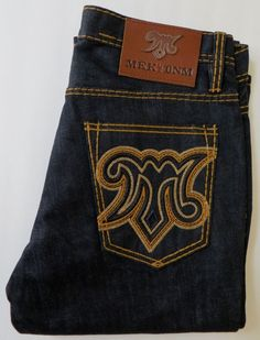 MEK Denim Men's OAXACA Jeans Saddle Stitch Boot 33 x 34 | X...