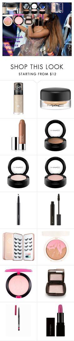 Ariana Grande - Break Free VMA 2014 Makeup Tutorial by oroartye-1 on Polyvore featuring beauty, Sephora Collection, Hourglass Cosmetics, Illamasqua, MAC Cosmetics, Clinique, Topshop, Revlon, Isadora and L'Oréal Paris