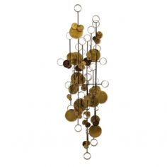 Vintage Raindrops and Rings Brutalist Wall Sculpture by McConnell « Griffin Trading Company