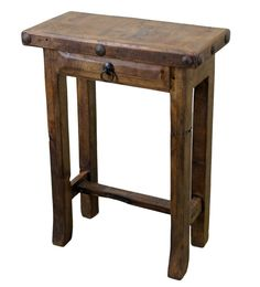 Mesquite Wood Simple Side Table