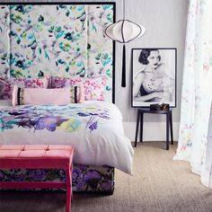 Florals | Painterly | Decorating ideas | Bedroom | Livingetc