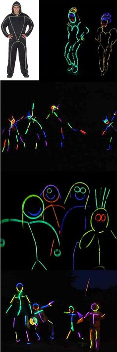 Glow sticks Costumes! This would be great for the Electric Run!