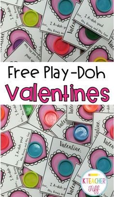 Free Play Doh valentine. This free printable is adorable.