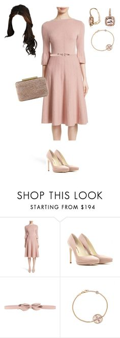"""Dress like a duchess"" by lilymae1997 ❤ liked on Polyvore featuring Lela Rose, Rupert Sanderson, RED Valentino, L.K.Bennett and Blue Nile"