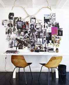 Collage walls- very inspiring